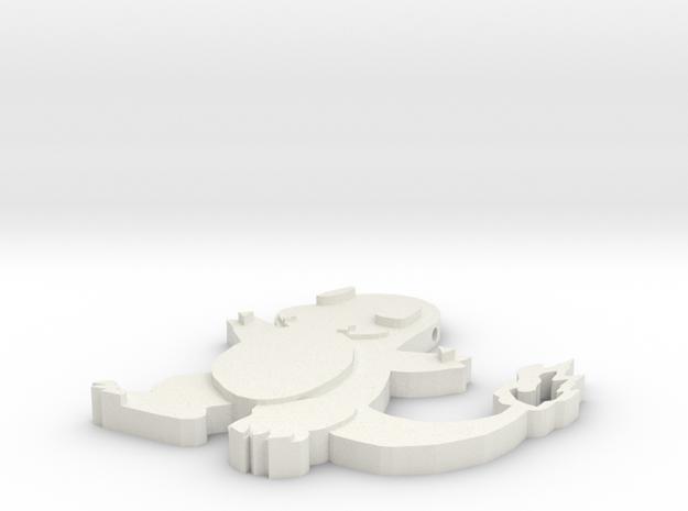 Charmander Pendant in White Natural Versatile Plastic