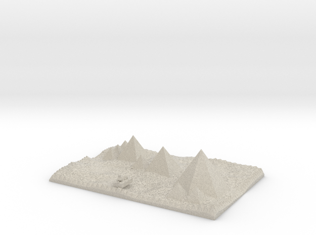 Pyramids Of Giza And Sphinx Model  in Natural Sandstone