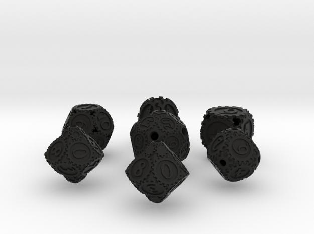 GearpunkDiceSevenSet 3d printed