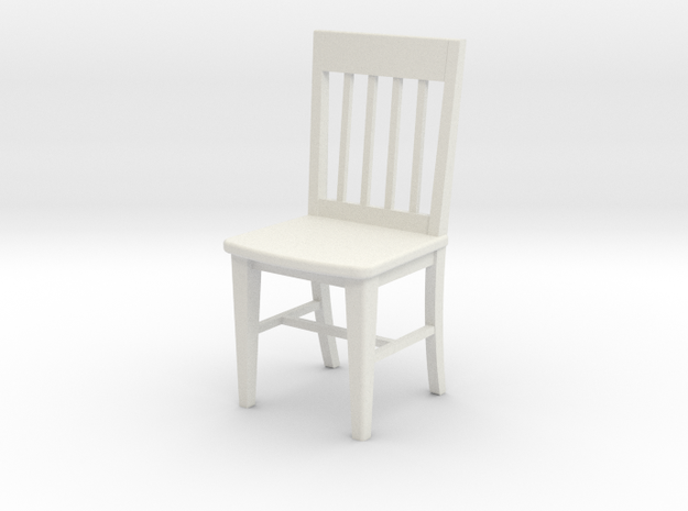 1:24 Slat Chair in White Natural Versatile Plastic