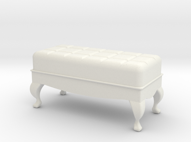 1:24 Tufted Ottoman in White Natural Versatile Plastic