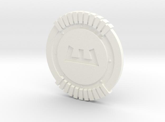 Enforcer Shield in White Processed Versatile Plastic