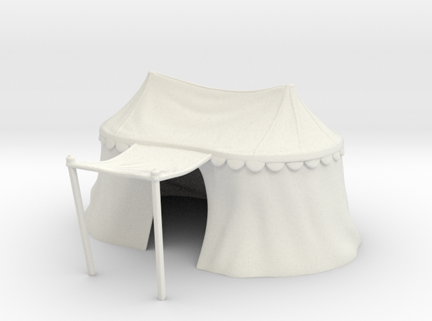 Medieval double tent for 25mm miniatures