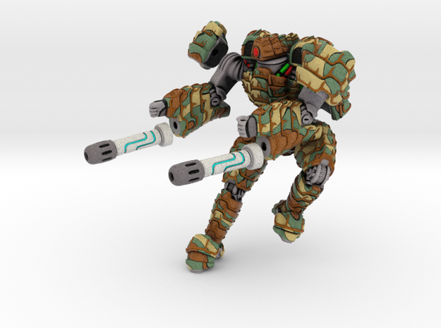 Mech suit with twin weapons. (6) 3d printed