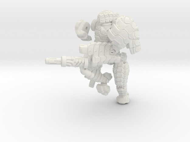 Mech suit with twin weapons. (8) 3d printed