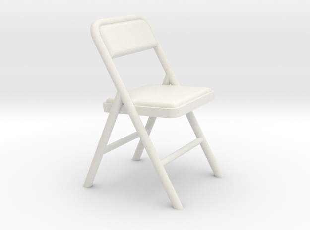 Folding Chair 2 (Not Full Size) in White Natural Versatile Plastic