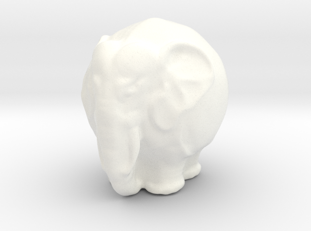 Kugelelephant in White Processed Versatile Plastic