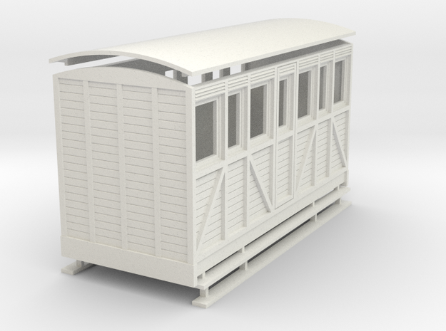 Sn2 woody large saloon coach.  in White Natural Versatile Plastic