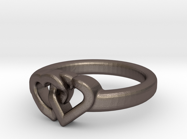 Entangled Love Small Sz17 3d printed