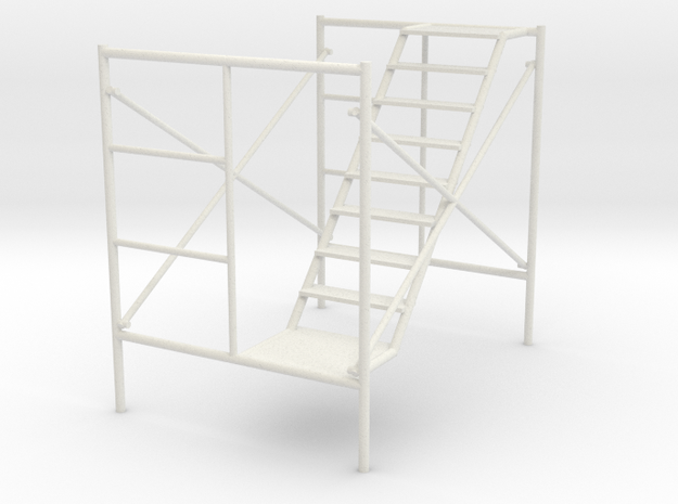 1:24 Scaffolding 2 in White Natural Versatile Plastic