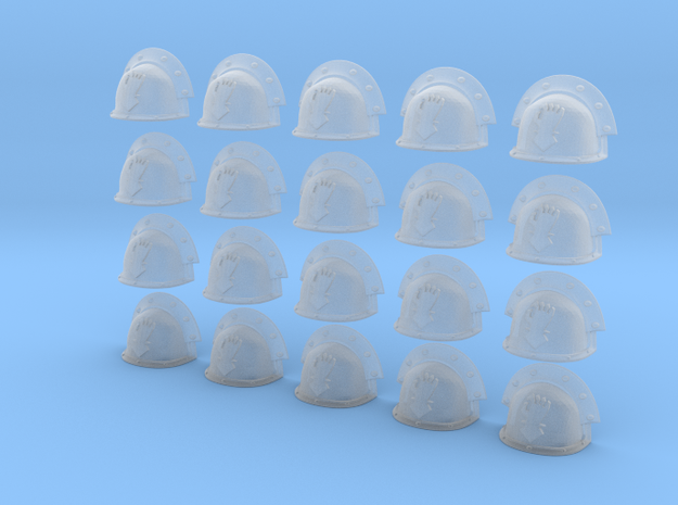 20 Heroic/TrueScale Custom Shoulder Pad Open Hand 3d printed