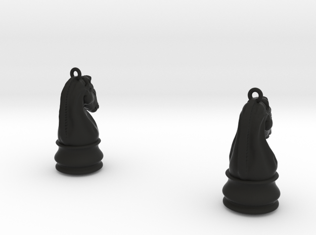Chess Knight Earrings 3d printed