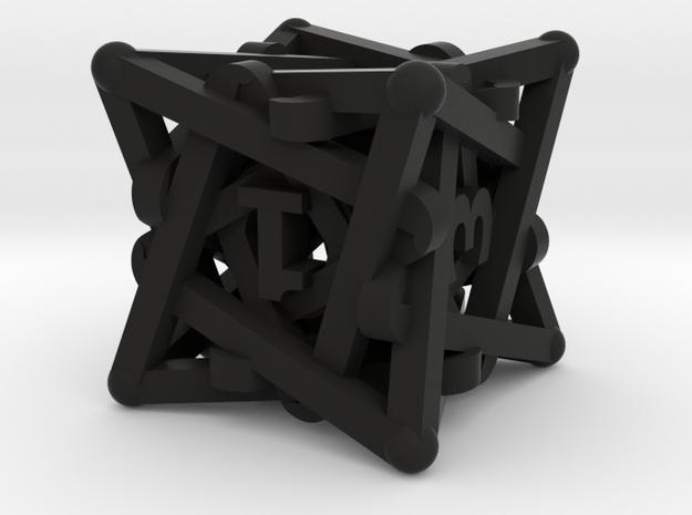 Spiral D6 Dice 3d printed