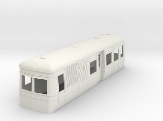 Sn2  Short bogie Diesel-electric railcar in White Natural Versatile Plastic