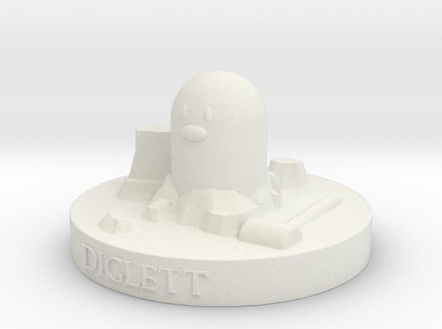 Diglett in White Natural Versatile Plastic