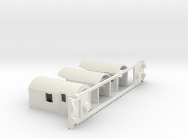 AG Luggage/Generator, NZ, (S Scale, 1:64) in White Natural Versatile Plastic