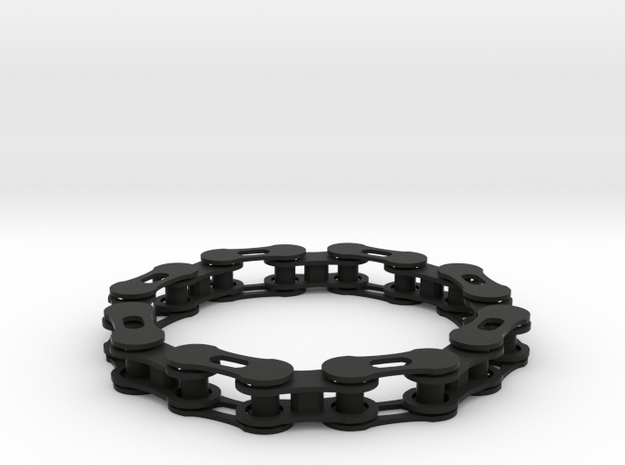 bike chain bracelet 3d printed