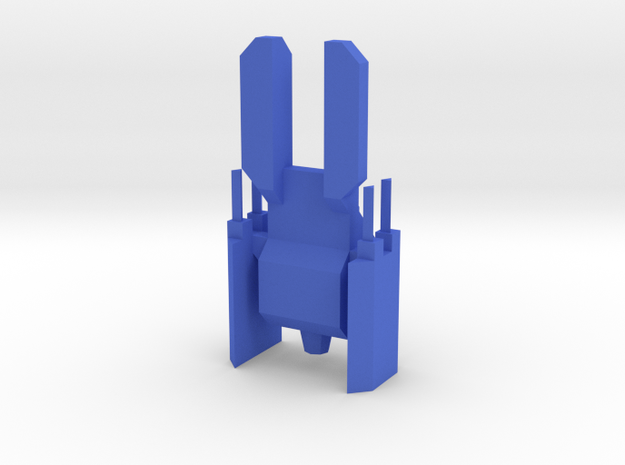 A Tiny Fighter  in Blue Processed Versatile Plastic