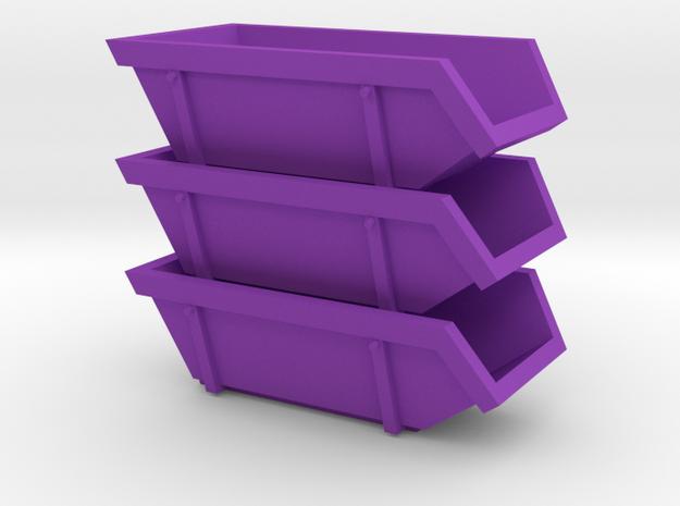 015001.1_6m3 skip in h0 scale (1:87) set of 3 3d printed
