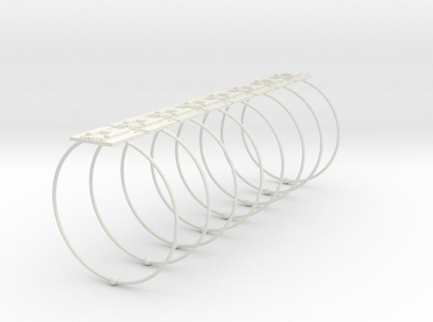 Hydrogen Napkin Ring in White Natural Versatile Plastic