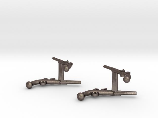 Dueling Pistol Cufflinks 3d printed