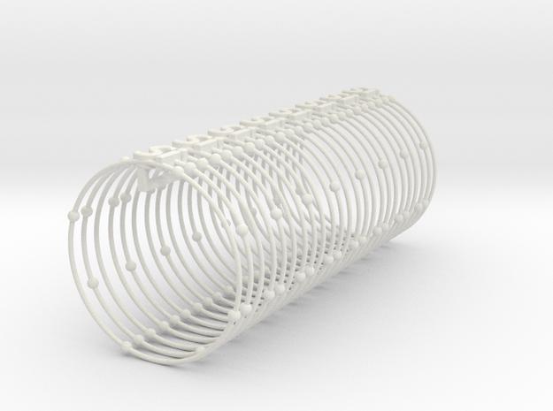 Silicon Napkin Ring in White Natural Versatile Plastic