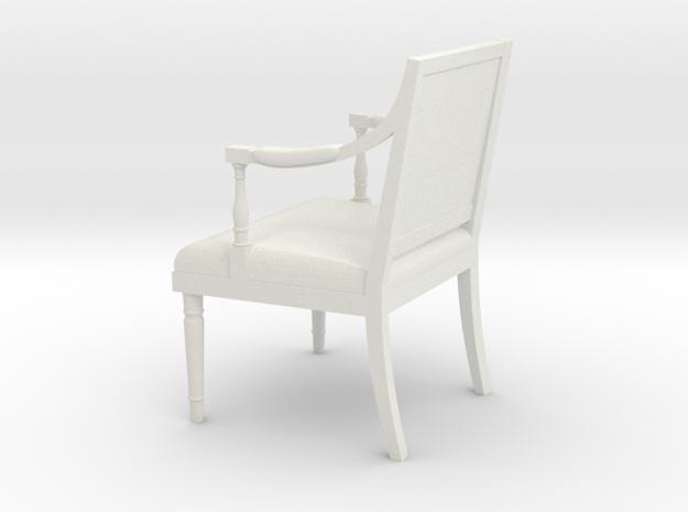 1:24 Sheraton Chair (Not Full Size) in White Natural Versatile Plastic