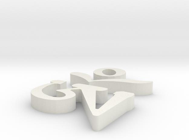 Tibetan Om-2 in White Natural Versatile Plastic