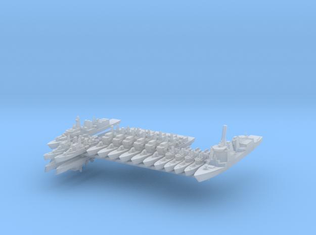 TelzyFleet 2 1:2400 (17 Ships) in Frosted Ultra Detail