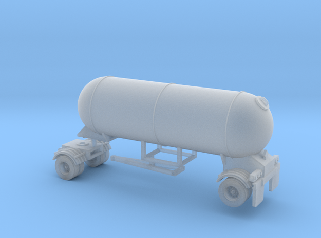 N scale 1/160 LPG Pup single-axle, trailer 15  in Smooth Fine Detail Plastic