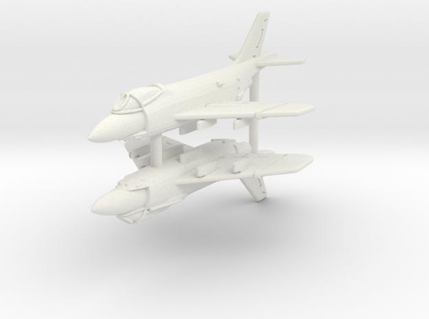 1/350 F3H Demon (x2) in White Natural Versatile Plastic