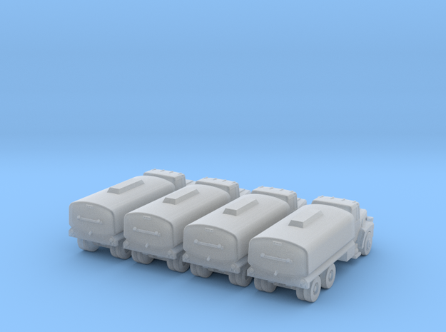 Mack Water Tanker - Set of 4 - Zscale in Smooth Fine Detail Plastic