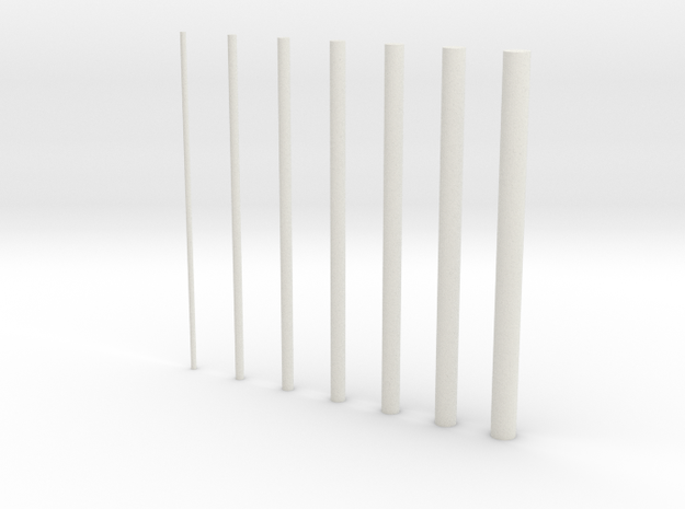 thin rods inc 0 5 in White Natural Versatile Plastic