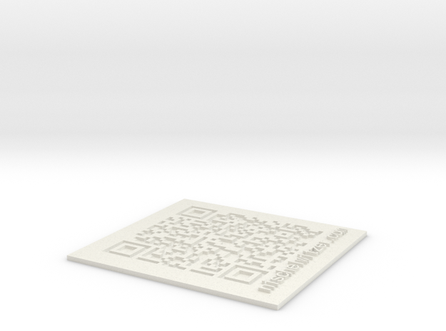 QR Code in 3D in White Natural Versatile Plastic