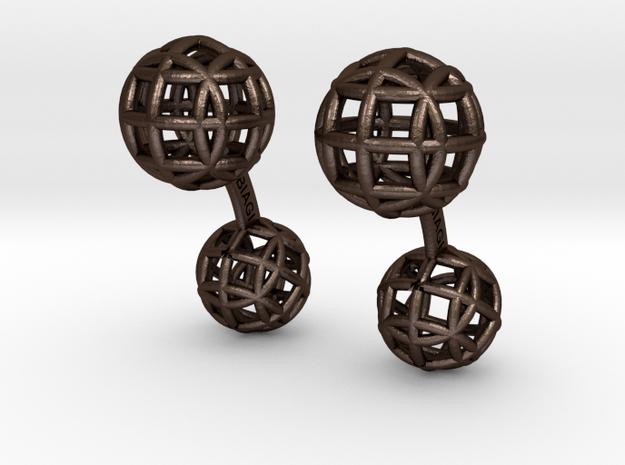 Esferitas1Cufflinks 3d printed