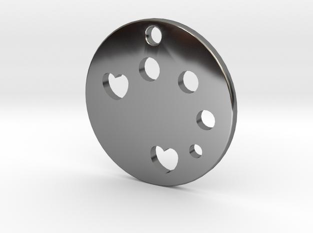 Love Disk v1 in Fine Detail Polished Silver