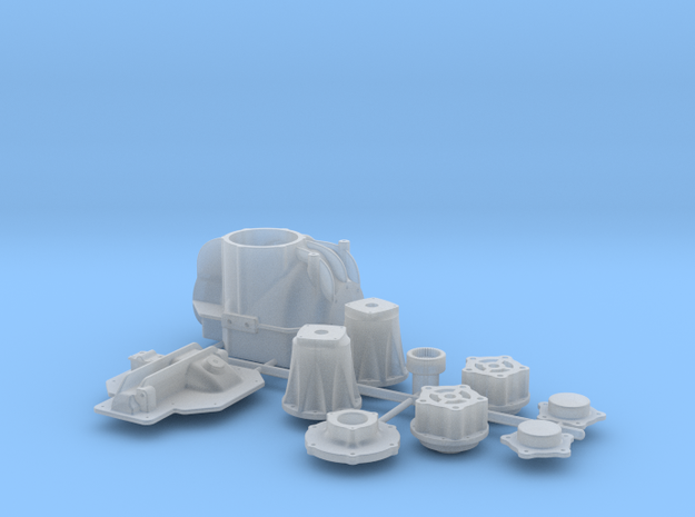 1/8 TDR 11 Inch Rearend Kit 3d printed