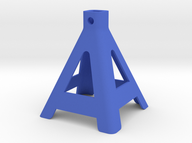 R/C Jack Stand Base 1 of 3 Parts in Blue Processed Versatile Plastic