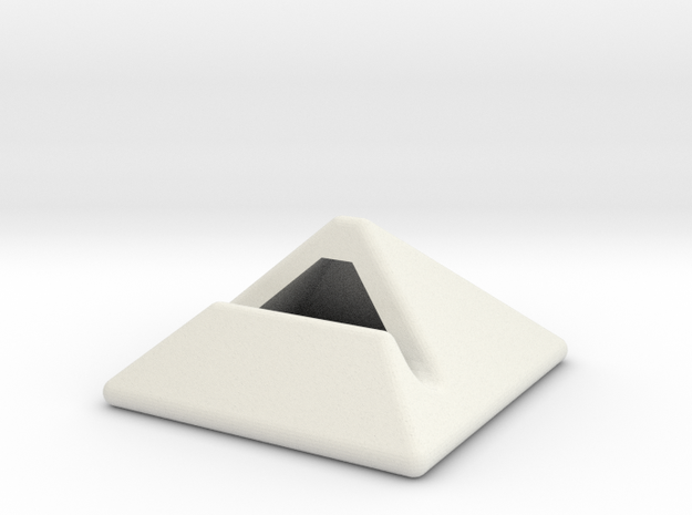 iPad Stand in White Natural Versatile Plastic