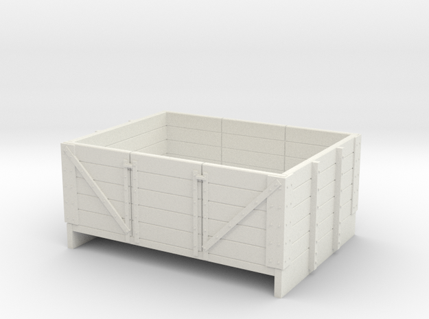 Sn2 5 plank open coal wagon in White Natural Versatile Plastic