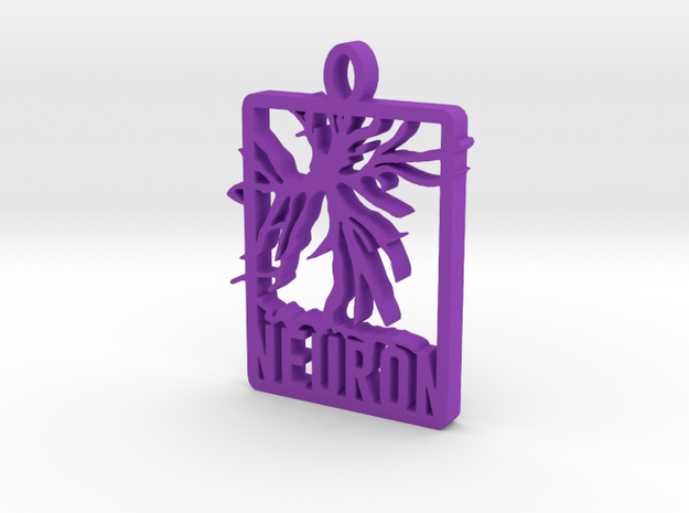 Neuron Pendant in Purple Strong & Flexible Polished