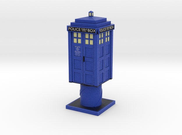 Tardis in Full Color Sandstone