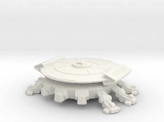 Fang Warp Lander (fixed) in White Natural Versatile Plastic