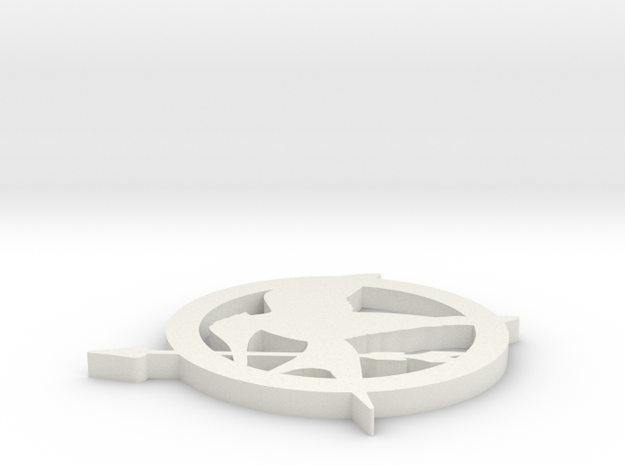 Mockingjay Pin in White Strong & Flexible
