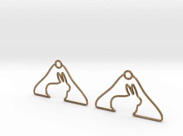 Rabbit Hanger Earring 3d printed