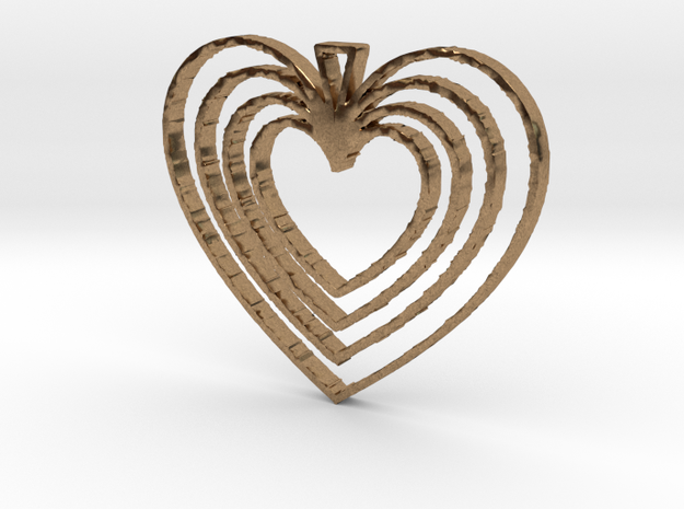 Hearts Go On in Raw Brass