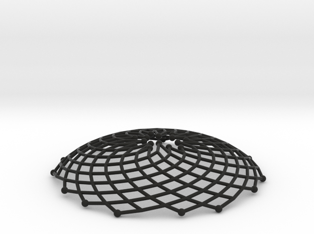 Phyllotaxis Sunflower n200 inc7 5 | pendant 3d printed