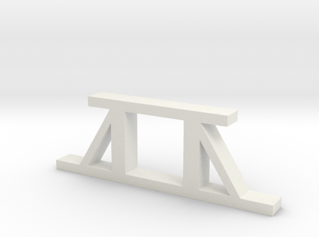 Pit Pier - Braced in White Strong & Flexible