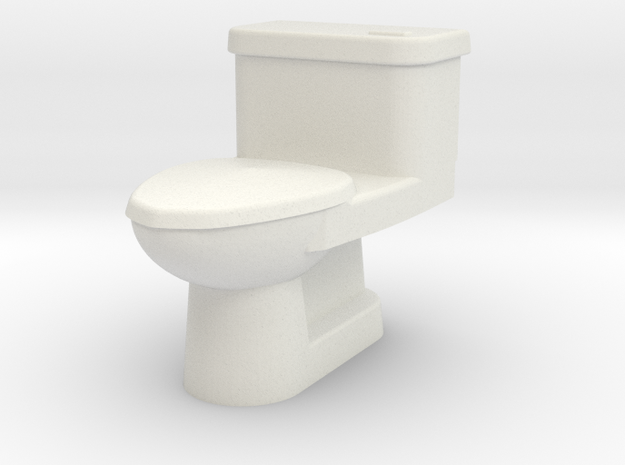 WC OO Scale in White Natural Versatile Plastic