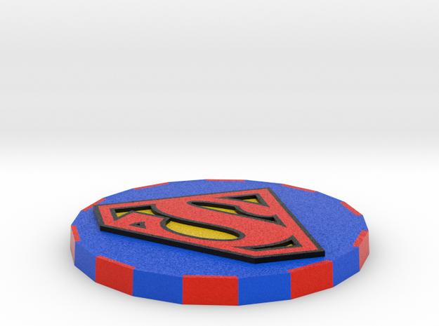 Superman Card Cover  in Full Color Sandstone